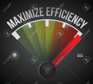 maximize efficiency marker illustration design over a black background