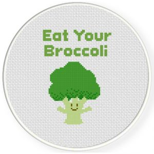 Eat-Your-Broccoli-Cross-Stitch-Illustration